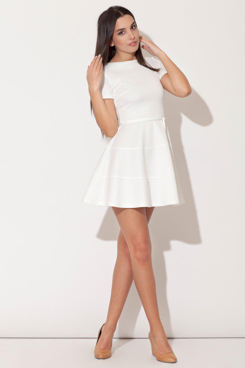 Robe blanche courte classe