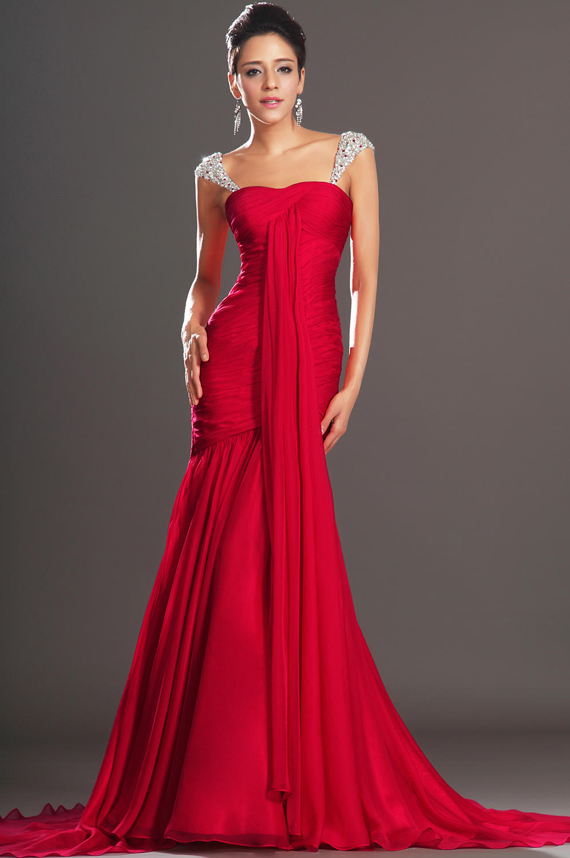 Robe de soiree rouge de marque