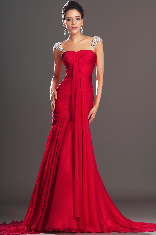 Robe de soiree longue rouge pas cher