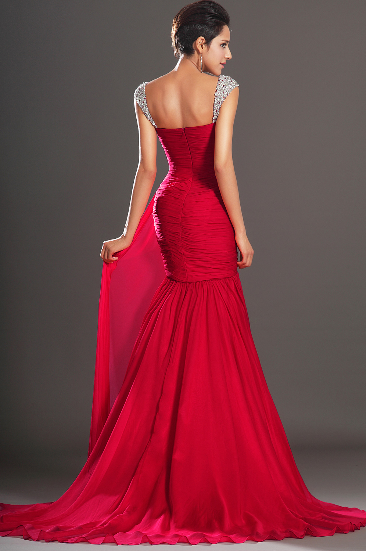 Robe rouge soiree longue