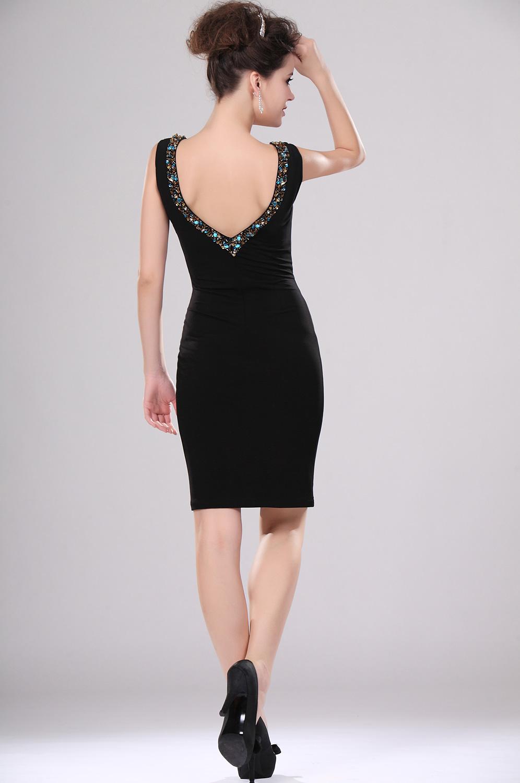 robe de soir e noire courte photos de robes. Black Bedroom Furniture Sets. Home Design Ideas