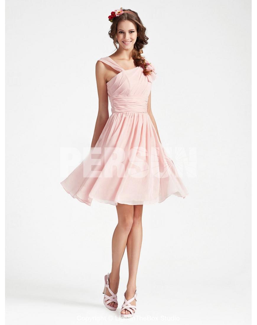 Robe cortege femme rose pale