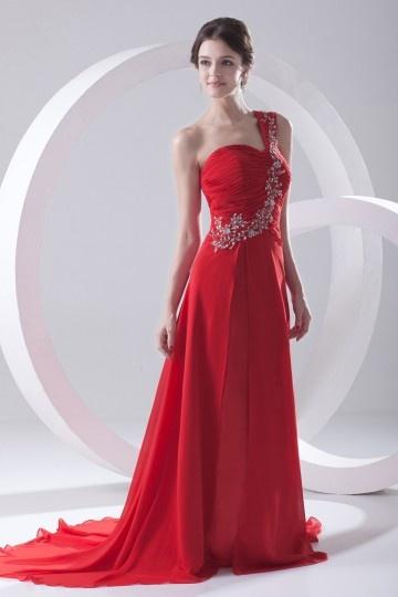 Robe longue de soiree rouge pas cher