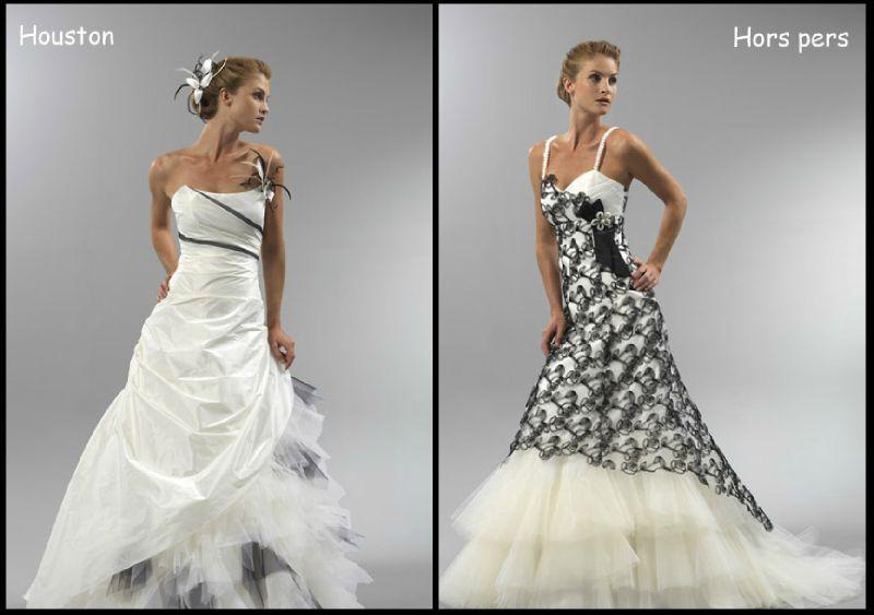 a1a564cf9c8 Robe de mariée blanche et noire robe dd