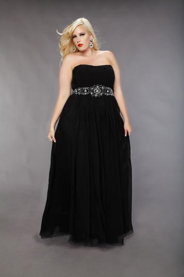 Robe longue noir grande taille pas cher