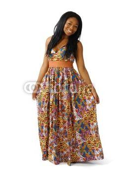Model de robe en pagne africain
