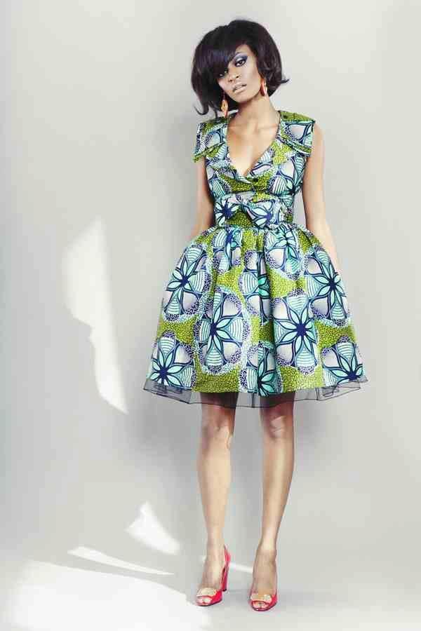 Belle robe en tissu